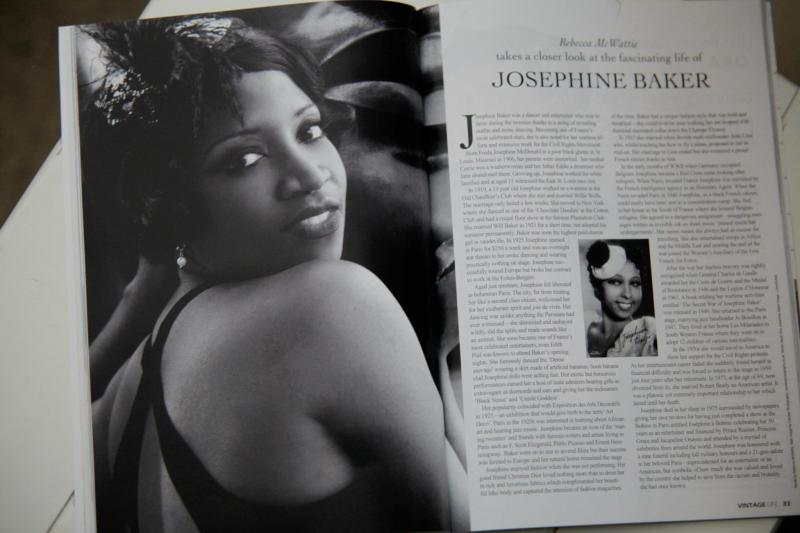 Mysti Vine with Candee Photography in Vintage Life Magazine - Josephine Baker